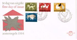 Nederland 1964 FDC Zomerzegels onbeschreven E63