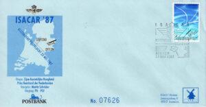 Isacar '87 LP4 Nederland 1987 FDC Bijzondere postvlucht Isacar L.P. 4