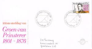 Nederland 1976 FDC Groen van Prinsterer beschreven E148