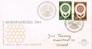 Nederland 1964 FDC Europazegels beschreven E67