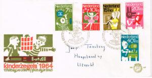 Nederland 1964 FDC Kinderzegels beschreven E69