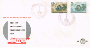 Nederland 1965 FDC 100 jaar Internationale Telecommunicatie Unie onbeschreven E73