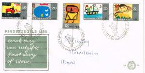 Nederland 1965 FDC Kinderzegels beschreven E76