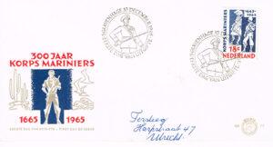 Nederland 1965 FDC 300 jaar Korps Mariniers beschreven E77