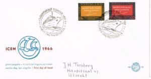 Nederland 1966 FDC Vluchtelingenvervoer beschreven E78