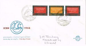 Nederland 1966 FDC blok Vluchtelingenvervoer beschreven E78