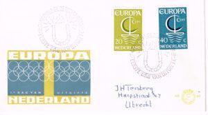 Nederland 1966 FDC Europazegels beschreven E80