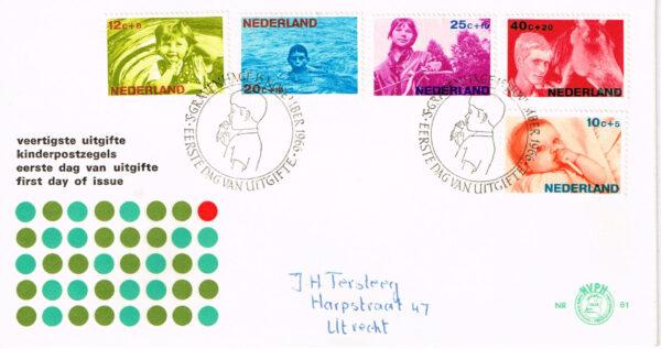 Nederland 1966 FDC Kinderzegels beschreven E81
