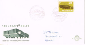 Nederland 1967 FDC T.H. Delft beschreven E82