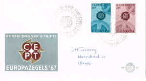 Nederland 1967 FDC Europazegels beschreven E84
