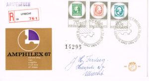 Nederland 1967 Amphilex beschreven E85