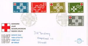 Nederland 1967 FDC Rode Kruis beschreven E86