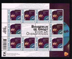 Nederland 2011 persoonlijke postzegel Nederlandse popgeschiedenis Boudewijn de Groot Voor de overlevenden