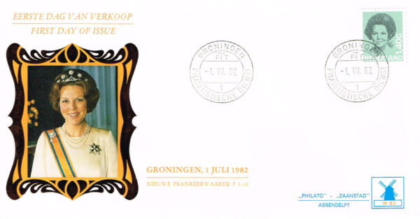 Nederland 1982 FDC Frankeer Beatrix 1,40 gld W52 Philato Molenreeks