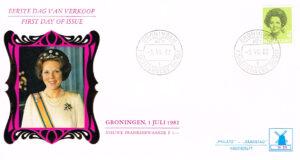 Nederland 1982 FDC Frankeer Beatrix 4 gld W55 Philato molenreeks