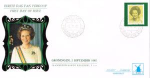 Nederland 1982 FDC Frankeer Beatrix 2 gld rolzegel W59 Philato Molenreeks