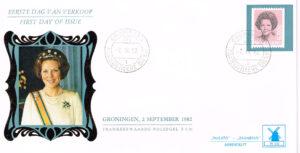 Nederland 1982 FDC Frankeer Beatrix 6,50 gld rolzegel W60 Philato Molenreeks