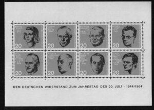 Duitsland (BRD) 1964 blok 'Widerstandskämpfer' nr 431-438