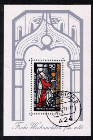 Duitsland (BRD) 1977 gestempeld blok 'Weihnachtsblock' nr 955