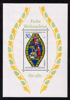 Duitsland (Berlin) 1976 blok 'Weihnachtsblock' nr 912