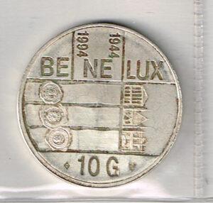 Koninkrijksmunten 1994 Nederland 10 gulden Benelux