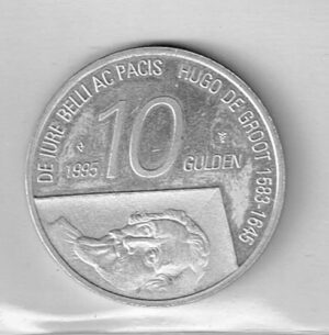 Koninkrijksmunten 1995 Nederland 10 gulden Hugo de Groot