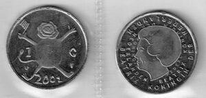 Koninkrijksmunten Nederland 2001 1 gulden Beatrix