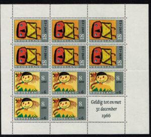 Nederland 1965 Kinderzegel blok NVPH 854