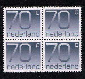 Nederland 1976-91 blok van 4 Frankeerzegels Crouwel NVPH 1117