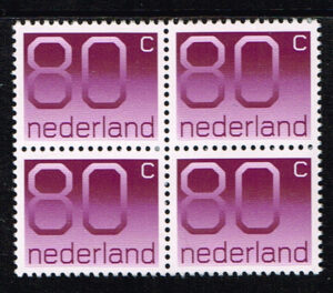 Nederland 1976-91 blok van 4 Frankeerzegels Crouwel NVPH 1118