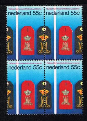 Nederland 1978 150 Jaar koninklijke militaire academie 2 maal Doorloper NVPH 1165A