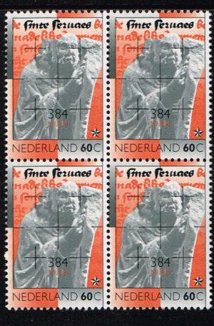 Nederland 1984 1600e sterfdag Sint Servaas blok van 4 zegels NVPH 1306