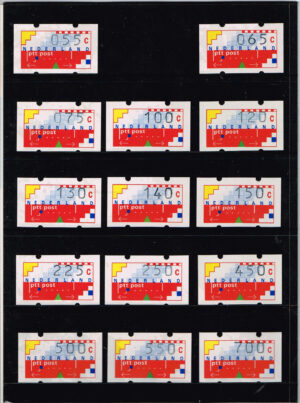 Nederland 1989 Automaatstroken Voordrukzegel voor Klussendorf-automaat