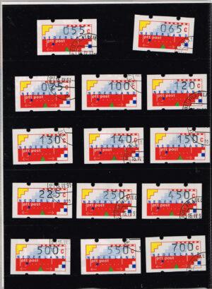 Nederland 1989 gestempeld Automaatstroken Voordrukzegel voor Klussendorf-automaat