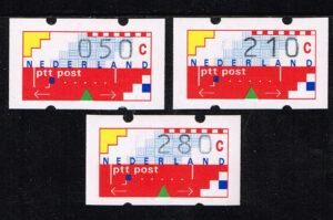 Nederland 1993 Automaatstroken Voordrukzegel voor Klussendorf-automaat