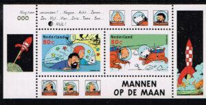 Nederland 1999 Kuifje Strip blok NVPH 1839