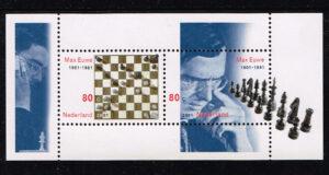 Nederland 2001 Max Euwe Schaak blok NVPH 1969