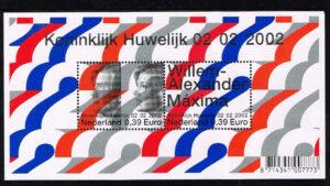 Nederland 2002 Koninklijk Huwelijk blok NVPH 2046