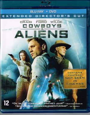 Cowboys & Aliens Daniel Graig, Harrison Ford, Oliva Wild (Blu-Ray + DVD)