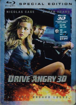 Drive Angry - Nicolas Gage, Amber 3D& 2D Blu-ray EAN 8715664088883