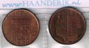 Koninkrijksmunten Nederland 1982 koningin Beatrix 5 cent