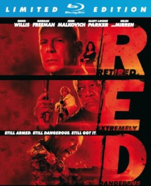 Red - Bruce Willis, Morgan Freeman, John Malkovich (Metal Case) (Blu-Ray) limited edition EAN 8713045225858
