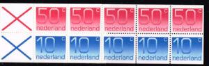 1982 Nederland 1982 postzegelboekje PB 28a Uitgifte 16 Maart 1982 5 x 10 ct + 5 x 50 ct cijfer Crouwel
