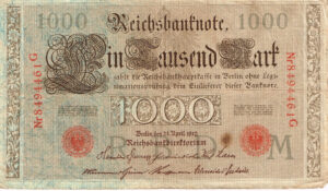 Duitsland 1910 Reichsbanknote 1000 Mark Catalogusnummer World Paper Money P-44b/3 Rosenberg R-45e