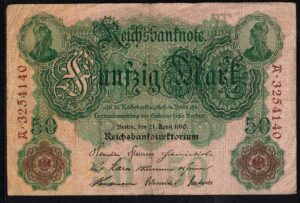 Duitsland 1910 Reichsbanknote 50 Mark