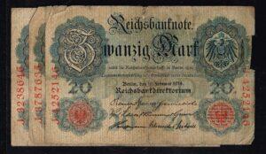 Duitsland 1914 Reichsbanknote Catalogusnummer: Wor:P-46b, Ros:R-47b