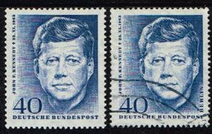 Duitsland (BRD) 1964 zegel 'John F. Kennedy. 1. Todestag. Wz. 5' nr 453