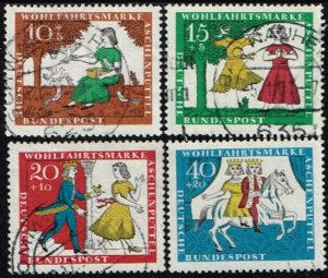 Duitsland (BRD) 1965 gestempeld serie 'Wohlfahrt. Aschputtel' nr 485-488