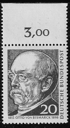 Duitsland (BRD) 1965 zegel '150. Geburtstag Bismarcks' nr 463