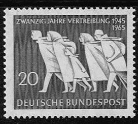 Duitsland (BRD) 1965 zegel '20 Jahre Vertreibung. Wz. 5' nr 479